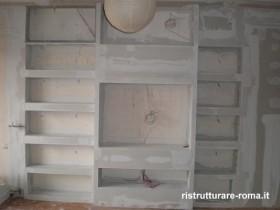 Montaggio librerie in cartongesso roma fornitura posa - Ristrutturare casa prezzi ...